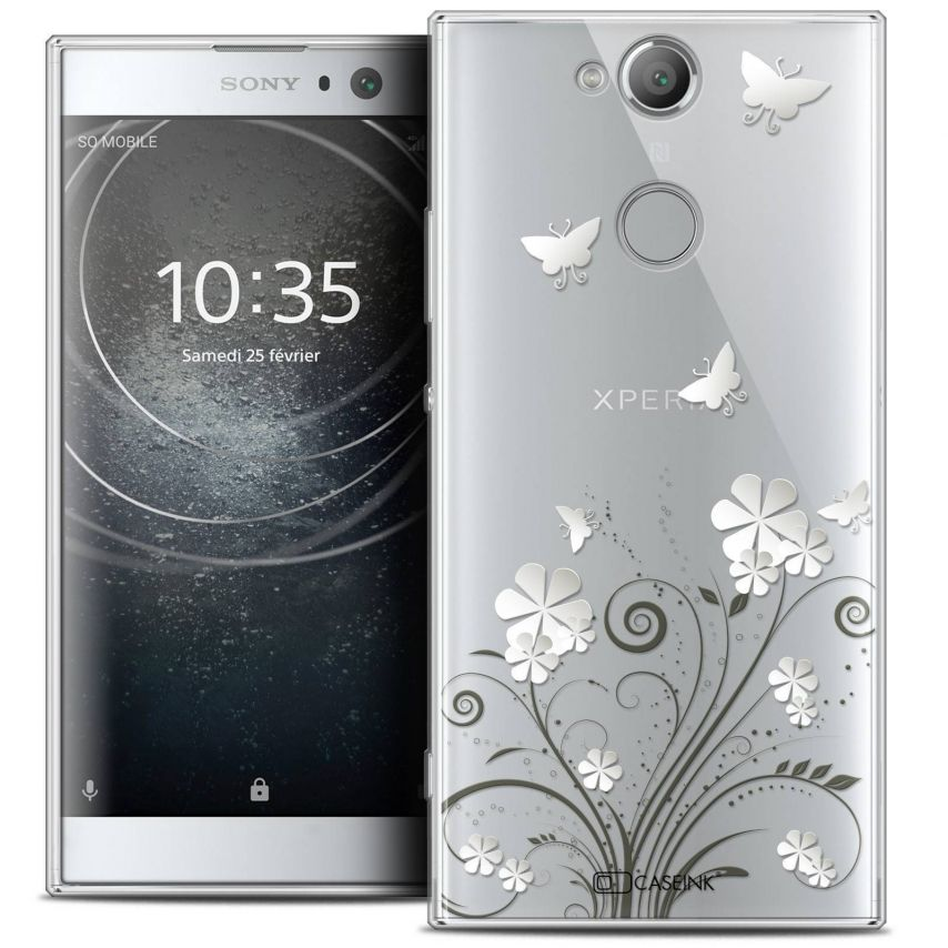 "Coque Crystal Gel Sony Xperia XA2 (5.2"") Extra Fine Summer - Papillons"