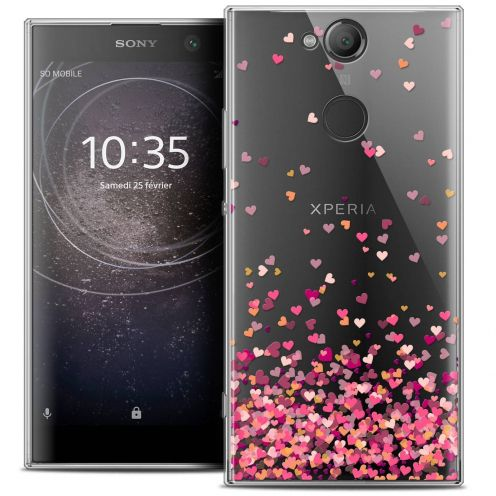 "Coque Crystal Gel Sony Xperia XA2 (5.2"") Extra Fine Sweetie - Heart Flakes"