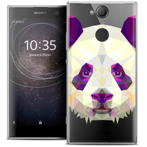 "Coque Crystal Gel Sony Xperia XA2 (5.2"") Extra Fine Polygon Animals - Panda"