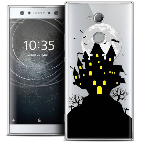 "Carcasa Crystal Gel Extra Fina Sony Xperia XA2 ULTRA (6"") Halloween Castle Scream"