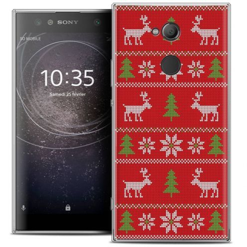 "Coque Crystal Gel Sony Xperia XA2 ULTRA (6"") Extra Fine Noël 2017 - Couture Rouge"