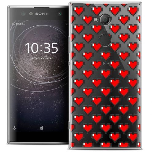 "Coque Crystal Gel Sony Xperia XA2 ULTRA (6"") Extra Fine Love - Pixel Art"