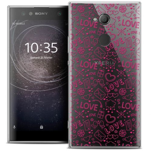 "Coque Crystal Gel Sony Xperia XA2 ULTRA (6"") Extra Fine Love - Doodle"