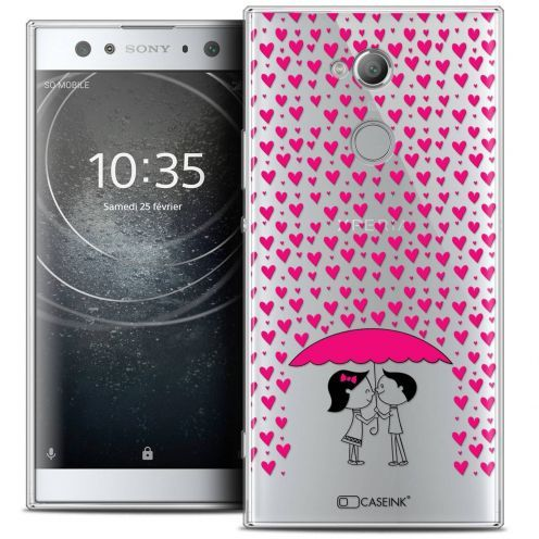 "Coque Crystal Gel Sony Xperia XA2 ULTRA (6"") Extra Fine Love - Pluie d'Amour"