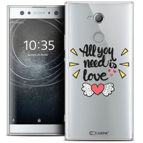 "Carcasa Crystal Gel Extra Fina Sony Xperia XA2 ULTRA (6"") Love All U Need Is"
