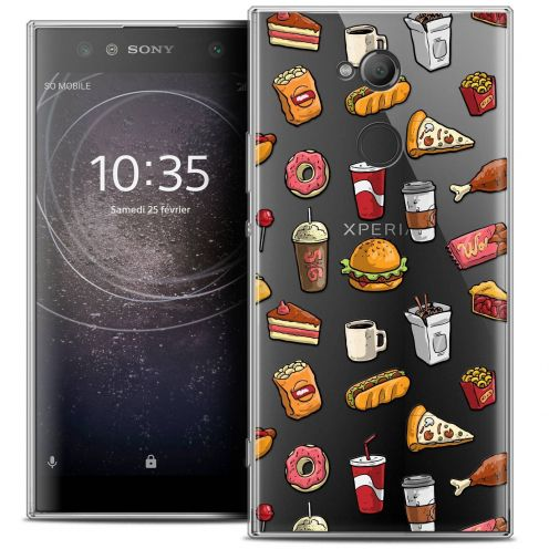 "Coque Crystal Gel Sony Xperia XA2 ULTRA (6"") Extra Fine Foodie - Fast Food"