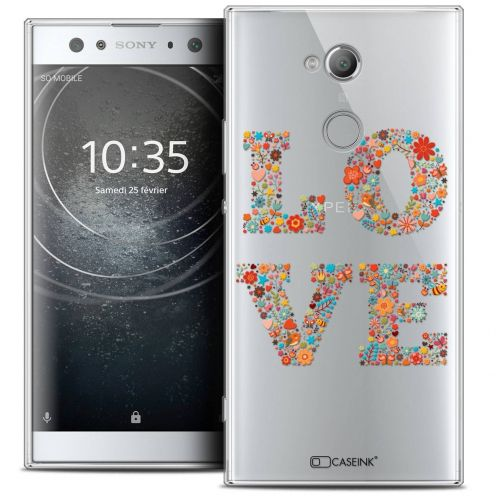 "Coque Crystal Gel Sony Xperia XA2 ULTRA (6"") Extra Fine Summer - Love Flowers"