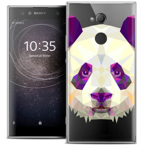 "Carcasa Crystal Gel Extra Fina Sony Xperia XA2 ULTRA (6"") Polygon Animals Panda"
