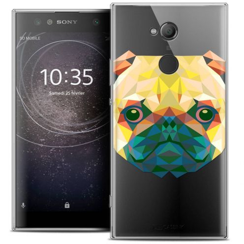 "Carcasa Crystal Gel Extra Fina Sony Xperia XA2 ULTRA (6"") Polygon Animals Perro"