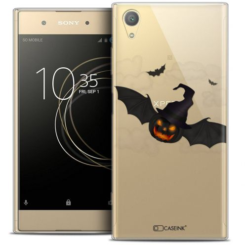 "Coque Crystal Gel Sony Xperia XA1 PLUS (5.5"") Extra Fine Halloween - Chauve Citrouille"