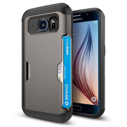 Carcasa Samsung Galaxy S6 SGP Spigen® Slim Armor CS Gunmetal