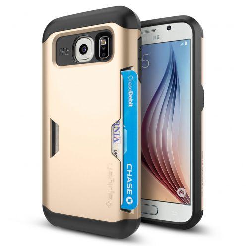 Carcasa Samsung Galaxy S6 SGP Spigen® Slim Armor CS Champagne Oro