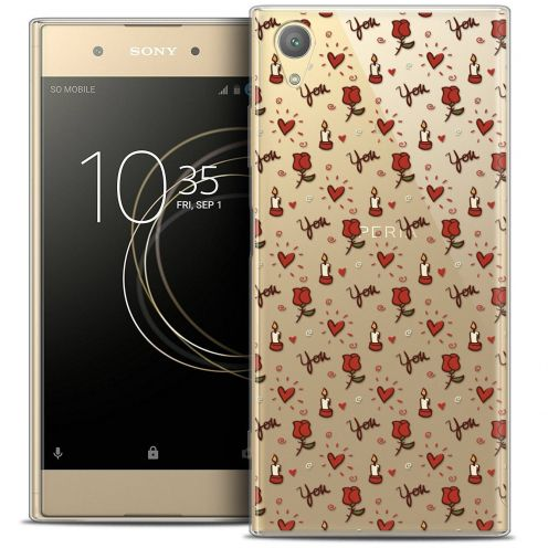 "Coque Crystal Gel Sony Xperia XA1 PLUS (5.5"") Extra Fine Love - Bougies et Roses"