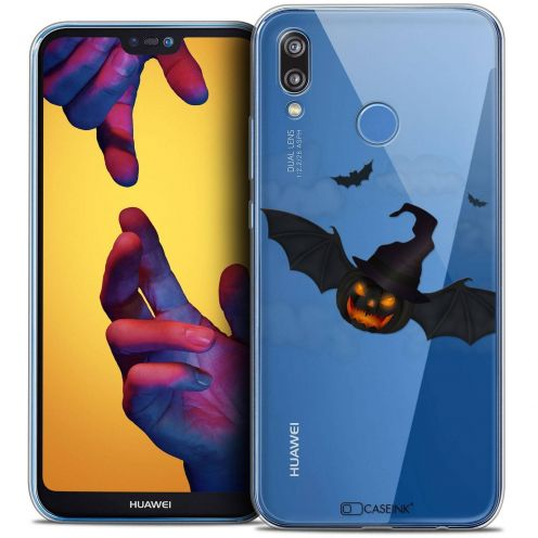 "Coque Crystal Gel Huawei P20 LITE (5.84"") Extra Fine Halloween - Chauve Citrouille"