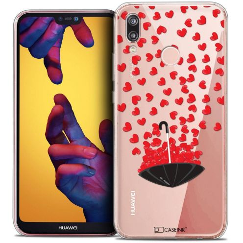 "Carcasa Crystal Gel Extra Fina Huawei P20 LITE (5.84"") Love Parapluie d'Amour"