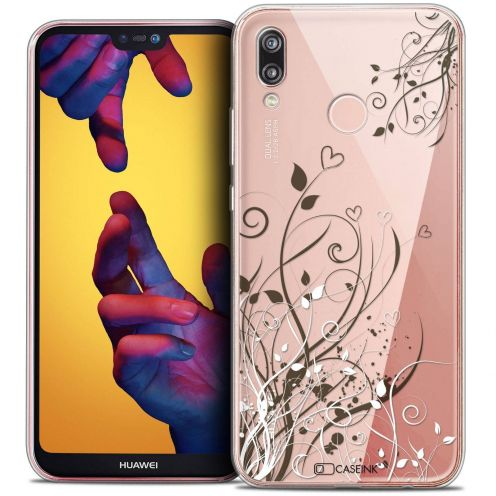 "Coque Crystal Gel Huawei P20 LITE (5.84"") Extra Fine Love - Hearts Flowers"