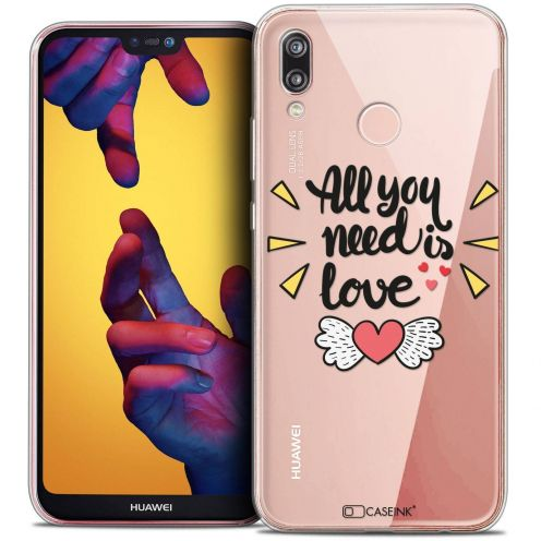 "Coque Crystal Gel Huawei P20 LITE (5.84"") Extra Fine Love - All U Need Is"