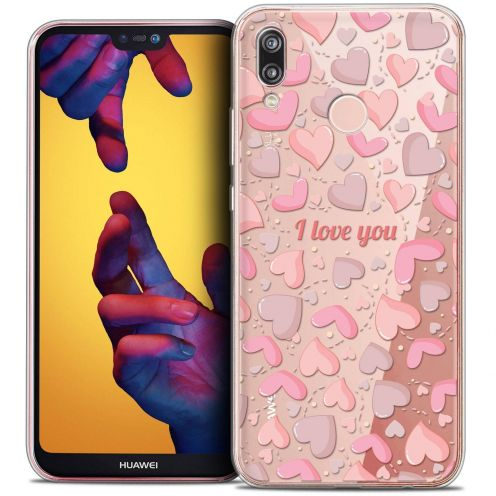 "Coque Crystal Gel Huawei P20 LITE (5.84"") Extra Fine Love - I Love You"