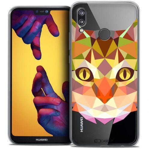 "Carcasa Crystal Gel Extra Fina Huawei P20 LITE (5.84"") Polygon Animals Gato"