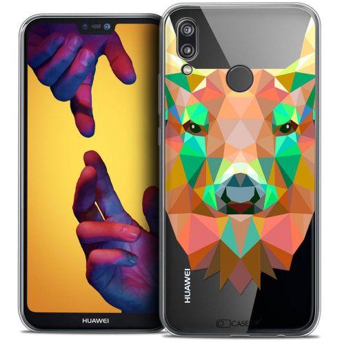 """Carcasa Crystal Gel Extra Fina Huawei P20 LITE (5.84"""") Polygon Animals Ciervo"""