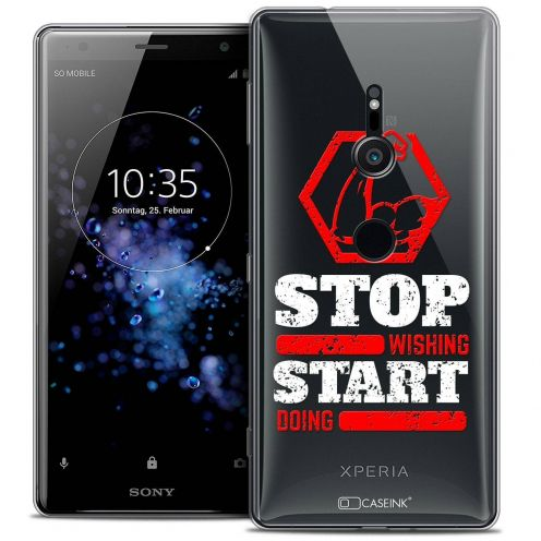 "Carcasa Crystal Gel Extra Fina Sony Xperia XZ2 (5.7"") Quote Start Doing"
