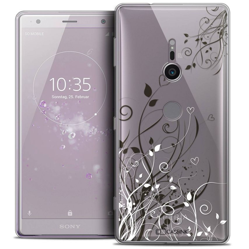 "Coque Crystal Gel Sony Xperia XZ2 (5.7"") Extra Fine Love - Hearts Flowers"