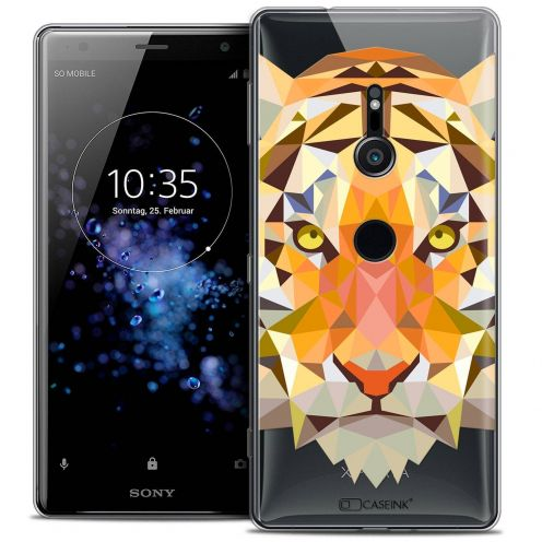 "Carcasa Crystal Gel Extra Fina Sony Xperia XZ2 (5.7"") Polygon Animals Tigre"