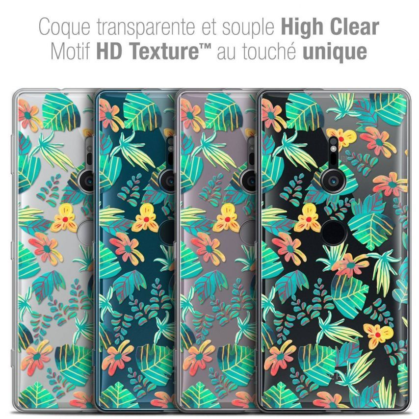 "Coque Crystal Gel Sony Xperia XZ2 (5.7"") Extra Fine Spring - Tropical"