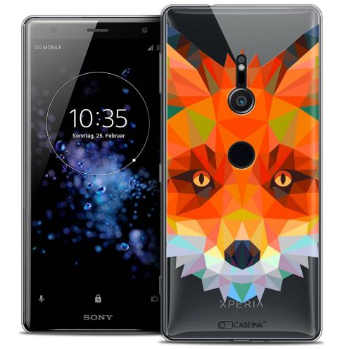 "Coque Crystal Gel Sony Xperia XZ2 (5.7"") Extra Fine Polygon Animals - Renard"