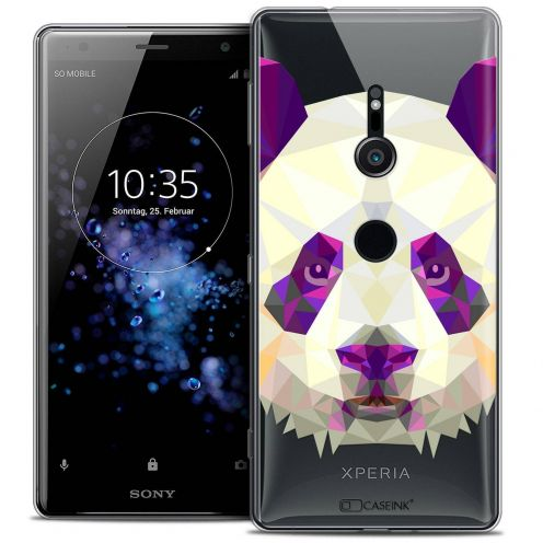 "Coque Crystal Gel Sony Xperia XZ2 (5.7"") Extra Fine Polygon Animals - Panda"