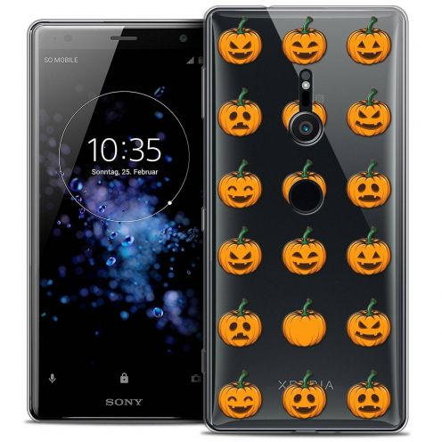 "Carcasa Crystal Gel Extra Fina Sony Xperia XZ2 (5.7"") Halloween Smiley Citrouille"