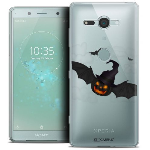 """Coque Crystal Gel Sony Xperia XZ2 Compact (5.0"""") Extra Fine Halloween - Chauve Citrouille"""