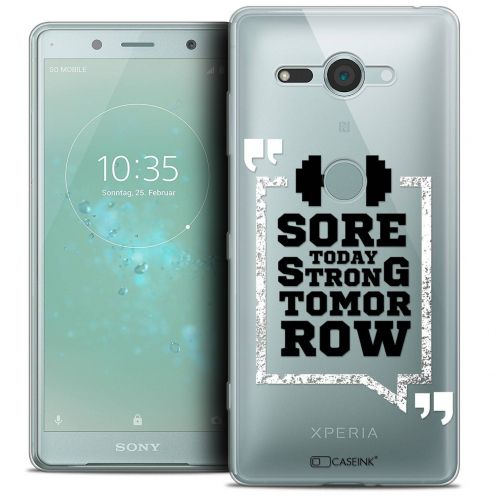 """Coque Crystal Gel Sony Xperia XZ2 Compact (5.0"""") Extra Fine Quote - Strong Tomorrow"""