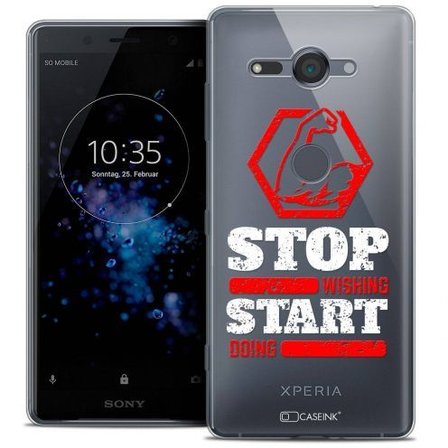 "Carcasa Crystal Gel Extra Fina Sony Xperia XZ2 Compact (5.0"") Quote Start Doing"