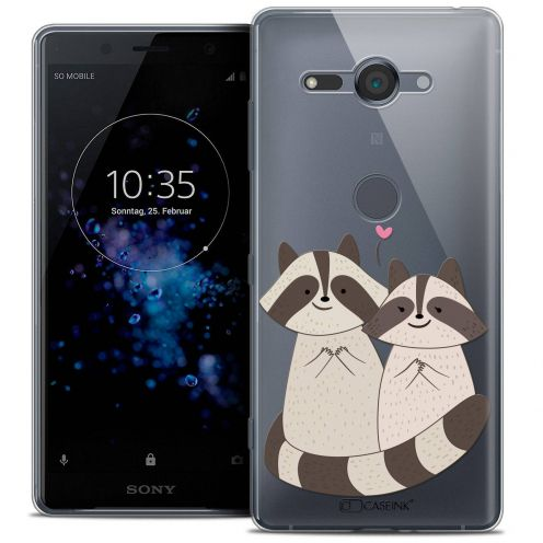 """Coque Crystal Gel Sony Xperia XZ2 Compact (5.0"""") Extra Fine Sweetie - Racoon Love"""