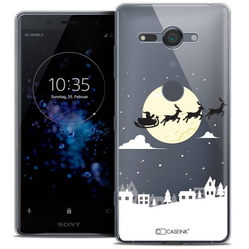 """Coque Crystal Gel Sony Xperia XZ2 Compact (5.0"""") Extra Fine Noël 2017 - Flying Stanta"""
