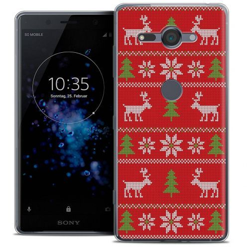 "Carcasa Crystal Gel Extra Fina Sony Xperia XZ2 Compact (5.0"") Noël 2017 Couture Rouge"