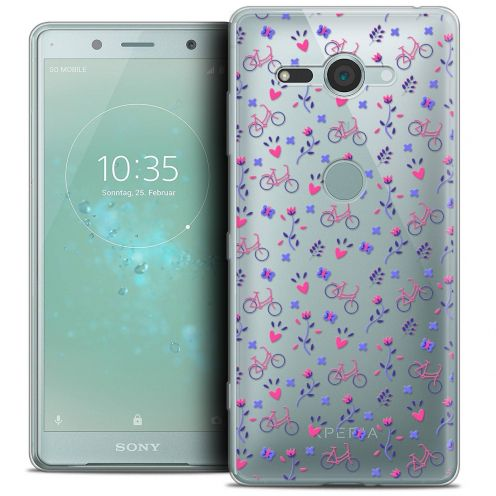 "Carcasa Crystal Gel Extra Fina Sony Xperia XZ2 Compact (5.0"") Love Bicycle"