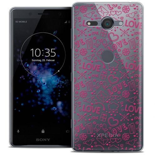 """Coque Crystal Gel Sony Xperia XZ2 Compact (5.0"""") Extra Fine Love - Doodle"""