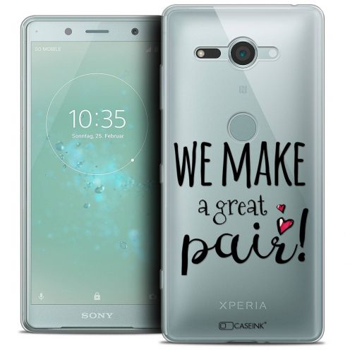 "Carcasa Crystal Gel Extra Fina Sony Xperia XZ2 Compact (5.0"") Love We Make Great Pair"