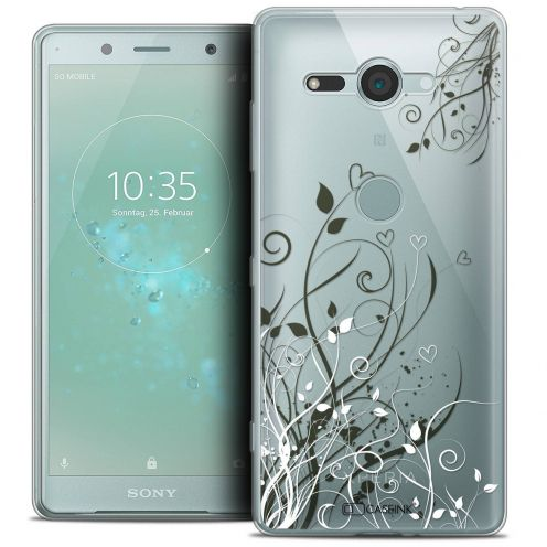 """Coque Crystal Gel Sony Xperia XZ2 Compact (5.0"""") Extra Fine Love - Hearts Flowers"""