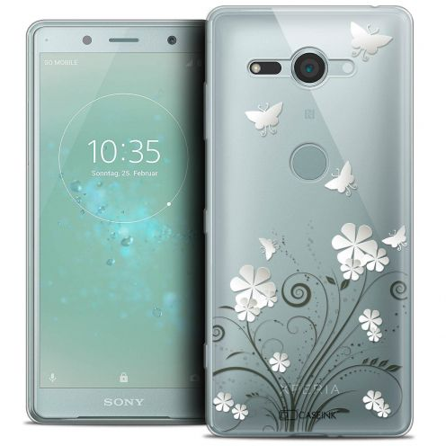 """Coque Crystal Gel Sony Xperia XZ2 Compact (5.0"""") Extra Fine Summer - Papillons"""