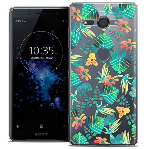 """Coque Crystal Gel Sony Xperia XZ2 Compact (5.0"""") Extra Fine Spring - Tropical"""