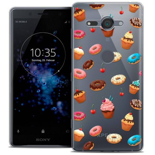 "Carcasa Crystal Gel Extra Fina Sony Xperia XZ2 Compact (5.0"") Foodie Donuts"