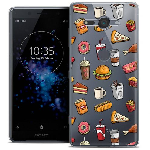 "Carcasa Crystal Gel Extra Fina Sony Xperia XZ2 Compact (5.0"") Foodie Fast Food"