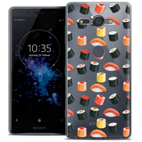 "Carcasa Crystal Gel Extra Fina Sony Xperia XZ2 Compact (5.0"") Foodie Sushi"