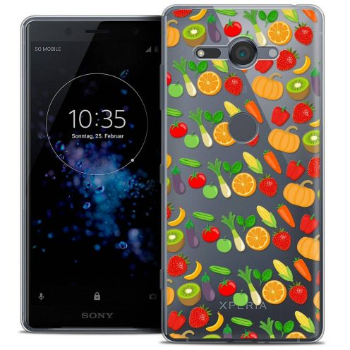 "Carcasa Crystal Gel Extra Fina Sony Xperia XZ2 Compact (5.0"") Foodie Healthy"