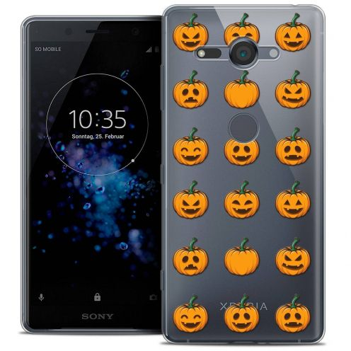 """Coque Crystal Gel Sony Xperia XZ2 Compact (5.0"""") Extra Fine Halloween - Smiley Citrouille"""