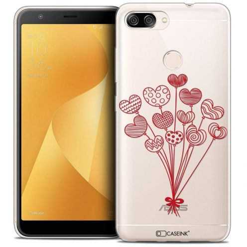 """Coque Crystal Gel Asus Zenfone Max Plus (M1) ZB570TL (5.7"""") Extra Fine Love - Ballons d'amour"""