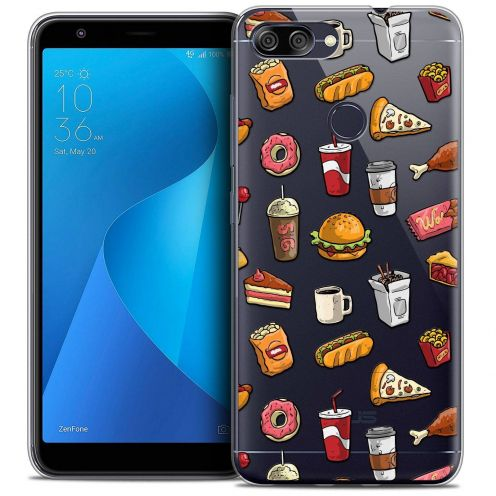 """Coque Crystal Gel Asus Zenfone Max Plus (M1) ZB570TL (5.7"""") Extra Fine Foodie - Fast Food"""